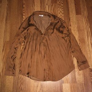 Rust Lush Blouse Size MEDIUM